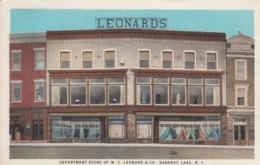 Saranac Lake New York, WC Leonard & Co. Department Store Exterior Of Store C1910s/20s Vintage Postcard - NY - New York