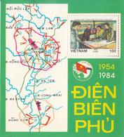 1984 Vietnam Military Victory Den Bien Phu Maps Souvenir Sheet  MNH - Vietnam