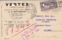 Milano. 1923. Annullo MILANO CORRISPONDENZE , Su Cartolina Postale PUBBLICITARIA - 1900-44 Vittorio Emanuele III