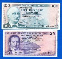 Islande  2  Billets - Islande