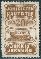 Russia Finland 1907 Jokioisten Jokkis Railway 20p Parcel STEAM LOCOMOTIVE Train Eisenbahn Paketmarke Chemin De Fer Colis - Trains