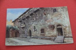 Verona La Casa Di Giulietta Vista Dall' Illustratore R. Schnitzer NV - Verona