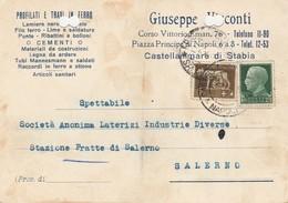 Castellammare Di Stabia. 1938. Annullo Guller, Su Cartolina Postale PUBBLICITARIA - 1900-44 Vittorio Emanuele III