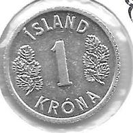 *iceland 1 Krona 1976  Km 23 - Islandia