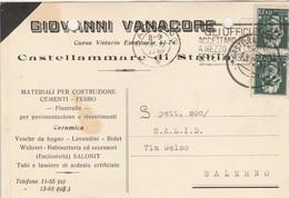 Castellammare Di Stabia. 1934. Annullo Guller, Su Cartolina Postale PUBBLICITARIA - 1900-44 Vittorio Emanuele III