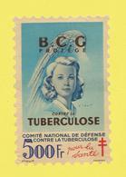 Timbre Vignette érinnophilie Antituberculeux Grand Format 1948 Timbre Auto-vitrine 500 Frs Format Hauteur 14,4 X 9,4 - Commemorative Labels