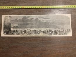 1860 ILL GRAVURE ENTREE PORT DU HAVRE RETRAIT GRANDE MARAIS - Old Paper