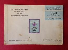 Libya, 1962- Booklet. Boy Scouts Of Libya. The Third Philia For The Mediterranean Boy Scout. Stamped. - Brieven En Documenten