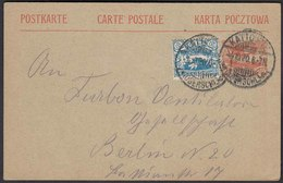 Oberschlesien 10 Pf. Ganzsache M.Zusatzfrankatur 1920 Kattowitz (22766 - Bezetting