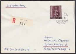 Liechtenstein 1960 R-Brief Mi.388 St.Luzius Einzelfrankatur  (22758 - Liechtenstein