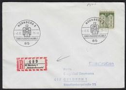 BRD 1971 Nürnberg R-Brief Sonder R-Zettel Christkinlesmarkt  (23433 - Briefmarken