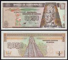 Guatemala 1/2 Quezal Banknote 1998 UNC (1) Pick 98  (24282 - Banknoten