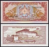 Bhutan - 5 Ngultrum Banknote (1985) UNC Pick 14   (24298 - Banknoten