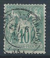 FRANCE - 1876 - Sage Type I - YT N°65 - 10 C. Vert - Oblitéré - TB Etat - 1876-1878 Sage (Type I)
