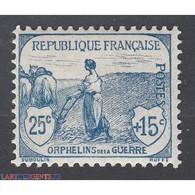TIMBRE N°151 Orphelin 1917-18 NEUF** SIGNE Calvès Côte 230 Euros - Francia