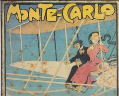 """Monaco MONTE-CARLO - """"Concours D'Aviation"""" GRÜN 1910 ? Tôle Lithographiée 26 X 35 Cm Sté Impr. Couleurs Levallois-Paris - Trenes & Aviones"""