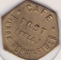 Jeton - Token - POST - Café Pierre HOURT-BIWER - CLEMENCY Belgique Province De Luxembourg - Notgeld