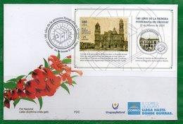 1711b URUGUAY 2020- En FDC - 180 A. De La 1º Fotografía- TT: Catedral,Faros,Cámaras De Fotos-Emisión El 23/2/2020 - Uruguay