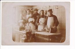 ♥ RARE ♥ CARTE PHOTO Allemand En Cuisine à Identifier Boucher Boucherie ( Militaire ) 1 Kompagnie LÖRCHINGEN Saarburg - France