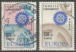Turkey 1967 - Mi. 2044-45 O, Europa Cept - 1921-... République