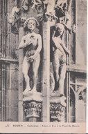 Rouen - Cathédrale, Adam Et Ève à La Tour De Beurre - Rouen