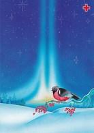 Postal Stationery - Bird - Bullfinch In Winter Landscape - Red Cross 1995 - Suomi Finland - Postage Paid - Finland