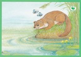 Postal Stationery - Beaver - Castor - Bever - Biber - Pro Natura - WWF Panda Logo - Suomi Finland - Postage Paid - RARE - Sonstige