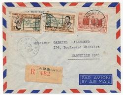Côte D'Ivoire => Enveloppe Affr. Composé AOF - Recommandée Depuis ADIAKE -  1 Mars 1955 - Costa D'Avorio (1892-1944)