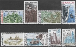Monaco  1977  Sc#1052, 1054-8    6 Diff CAREER OF A SAILOR (1st Set) & Europa Set Used  2016 Scott Value $7 - Used Stamps