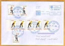 1993 2020 Moldova Moldavie Moldau  ATM Posta Moldovei Neopost Cover Birds. - ATM - Frama (vignette)