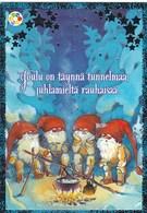 Postal Stationery - Birds - Bullfinches - Elves Camping - Cancer Foundation - Suomi Finland - Postage Paid - Postwaardestukken