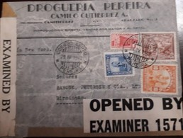 O) 1942 COLOMBIA, CENSORSHIP - EXAMINED - OPENED, GOLD MINING SC 439, COFFEE PICKING, PRE COLUMBIAN SC C125, DROGUERIA P - Colombia