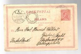 Island 1907: Reykjawik: Via Queenstown -Ship Letter- To Güstrow, Stamp Away - Zonder Classificatie