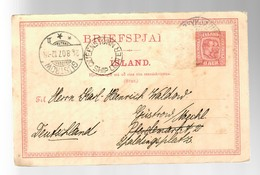 Island 1907: Reykjawik: Via Queenstown -Ship Letter- To Güstrow, Stamp Away - Island