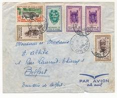 Côte D'Ivoire => Env. Depuis Abidjan - 1966 - Affr Composé Masques - Réserve De Bouna - Ivory Coast (1960-...)