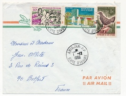 Côte D'Ivoire => Env. Depuis Abidjan R.P. - 1/12/1966 - Affranchissement Composé - Ivory Coast (1960-...)