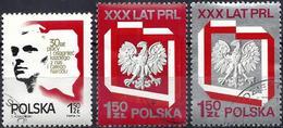 Poland 1974 - Mi 2324/26 - YT 2165/67 ( 30th Anniv. Of People's Republic ) Complete Set - 1944-.... République