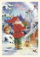Postal Stationery - Bullfinches - Elf Feeding Birds - Squirrel - Breast Cancer Foundation - Suomi Finland - Postage Paid - Finland