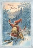 Postal Stationery - Elf Holding Bullfinch - Finnish Mental Health Association - Suomi Finland - Postage Paid - Partanen - Postwaardestukken