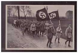 Dt.-Reich (009064) Propaganda Sammelbild, Deutschland Erwacht, Bild 11, Übung Der SA Vor Den Toren In München 1923 - Alemania
