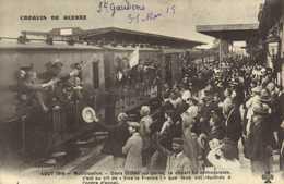 """CROQUIS DE GUERRE  Aout 1914 Mobilisation Dans Toutes Les Gares Le Départ Fut Enthousiaste C'est Au Cri De """"Vive La Fran - Weltkrieg 1914-18"""