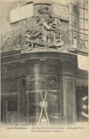"""Paris Historique Bas Relief En Pierre Peinte """"Au Gagne Petit"""" Rue Des Nonnains D' Hyères 5 RV - Arrondissement: 04"""