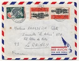 Côte D'Ivoire => Env. Depuis Abidjan Plateau. - 15/03/1967 - Affranchissement Composé - Ivory Coast (1960-...)