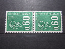 VEND BEAUX TIMBRES DE FRANCE N° 1815a EN PAIRE , BANDES PHOSPHORES DECALEES , XX !!! (a) - 1971-76 Maríanne De Béquet