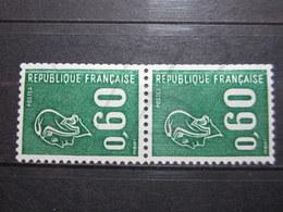 VEND BEAUX TIMBRES DE FRANCE N° 1815a EN PAIRE , BANDES PHOSPHORES DECALEES , XX !!! (b) - 1971-76 Maríanne De Béquet