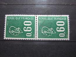 VEND BEAUX TIMBRES DE FRANCE N° 1815a EN PAIRE , BANDES PHOSPHORES DECALEES , XX !!! (c) - 1971-76 Maríanne De Béquet