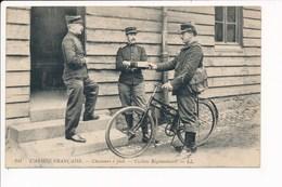 Carte Militaire L' Armée Française Chasseurs à Pied  Cycliste Régimentaire ( Facteur ) - Reggimenti