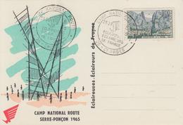 Carte  FRANCE   Camp  Eclaireurs   De  France  SERRE - PONCON     CHORGES   1965 - Zonder Classificatie