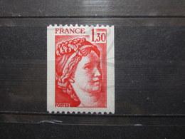 VEND BEAU TIMBRE DE FRANCE N° 2063a , XX !!! - 1977-81 Sabine De Gandon