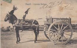 NAPOLI - CARRETTO SICILIANO -VIAGGIATA 1909 - Napoli
